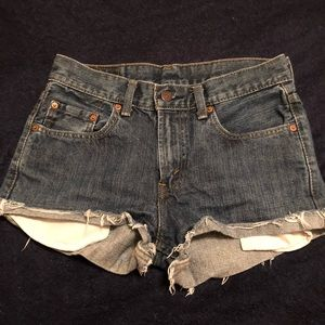 High waisted vintage Levi's shorts